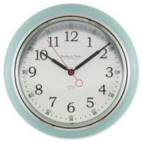 Sterling & Noble Kitchen Round Wall Clock in Mint