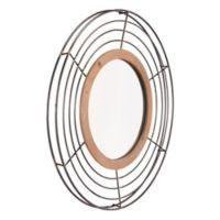 Zuo® Modern Tron 31.9-Inch Round Mirror