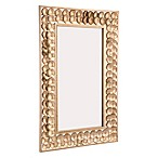 Zuo® Modern Mini Circles 21.9-Inch x 34.1-Inch Rectangular Mirror in Gold