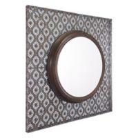 Zuo® Modern Plaque 35.8-Inch x 35.8-Inch Mirror in Antique Metal