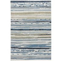 Jaipur Colours 2-Foot x 3-Foot Indoor/Outdoor Rug in Ivory/Blue