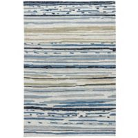 Jaipur Colours 3-Foot 6-Inch x 5-Foot 6-Inch Indoor/Outdoor Rug Ivory/Blue