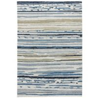 Jaipur Colours 5-Foot x 7-Foot 6-Inch Indoor/Outdoor Rug in Ivory/Blue