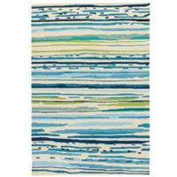 Jaipur Colours 5-Foot x 7-Foot 6-Inch Indoor/Outdoor Rug in Blue/Green