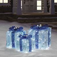 Hanukkah Gift Boxes with Lights in Blue/White
