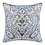 French Knot Damask Square Throw Pillow in Cornflower
