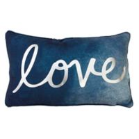 "Thro ""Love"" Reversible Mermaid Sequin Oblong Throw Pillow"