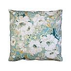 Thelma Floral Square Throw Pillow in Seafoam