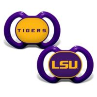 Baby Fanatic® Louisiana State University 2-Pack Orthodontic Pacifiers in Purple/Yellow