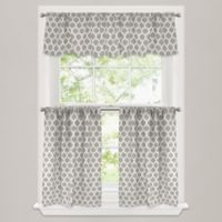 Morocco 24-Inch Window Curtain Tier Pair in Stone