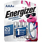 Energizer® Ultimate 4-Pack AAA 1.5-Volt Lithium Batteries