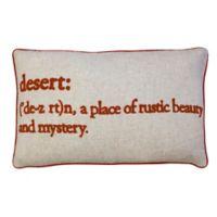 Desert Definition Rectangular Throw Pillow in Spice