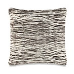 Space Dye Square Throw Pillow in Grey