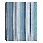 Blake Indoor/Outdoor Throw Blanket in Aqua