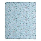 Seashells Indoor/Outdoor Throw Blanket in Blue