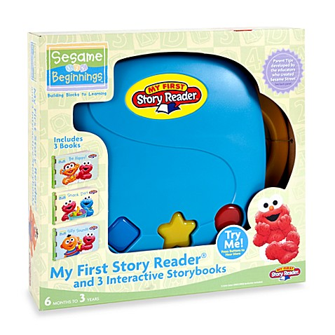 My First Story Reader® and 3 in teractive Sesame Street™ StoryBooks