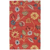 Jaipur Blue Collection Floral 2-Foot x 3-Foot Accent Rug in Red Multi