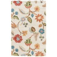 Jaipur Blue Collection Floral 2-Foot 6-Inch x 8-Foot Runner in Ivory Multi