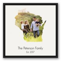 Designs Direct Wisconsin 20-Inch Square Framed Wall Art