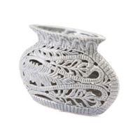 Zuo® Leaves Short Vase in Grey