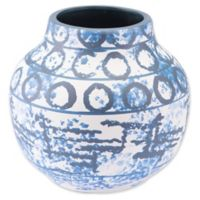 Zuo® Ree Small Vase in Blue/White