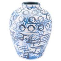 Zuo® Ree Medium Vase in Blue/White