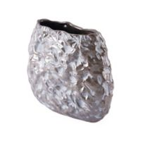 Zuo® Modern Stones Medium Vase in Metallic Brown/White