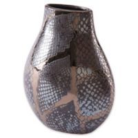 Zuo® Snake Skin Metallic Small Vase in Black/Brown