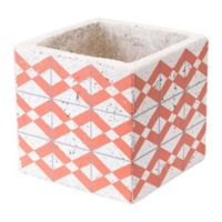 Zuo® Cement Triangles Planter in Orange and White