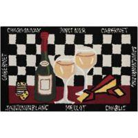 Nourison Everywhere 32-Inch x 19-Inch Half Wine Kitchen Mat in Black
