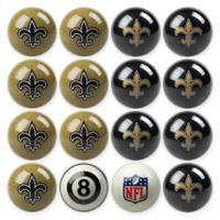NFL New Orleans Saints Home vs. Away Billiard Ball Set