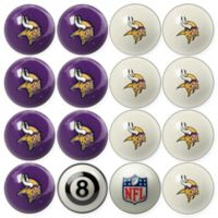NFL Minnesota Vikings Home vs. Away Billiard Ball Set