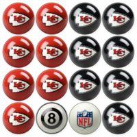 NFL Kansas City Chiefs Home vs. Away Billiard Ball Set