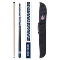 NFL Denver Broncos Billiard Cue Stick and Case Set
