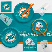 NFL Miami Dolphins 81-Piece Complete Tailgate Party Kit