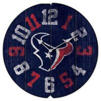 NFL Houston Texans Vintage Round Wall Clock