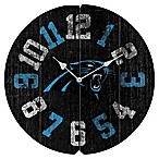 NFL Carolina Panthers Vintage Round Wall Clock