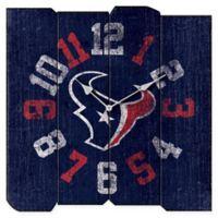 NFL Houston Texans Vintage Square Wall Clock