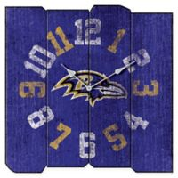 NFL Baltimore Ravens Vintage Square Wall Clock