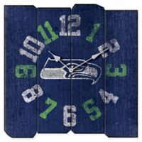 NFL Seattle Seahawks Vintage Square Wall Clock