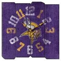 NFL Minnesota Vikings Vintage Square Wall Clock