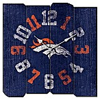 NFL Denver Broncos Vintage Square Wall Clock