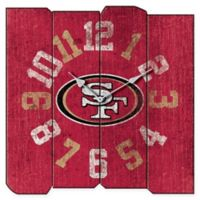 NFL San Francisco 49ers Vintage Square Wall Clock