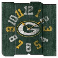 NFL Green Bay Packers Vintage Square Wall Clock