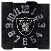 NFL Oakland Raiders Vintage Square Wall Clock