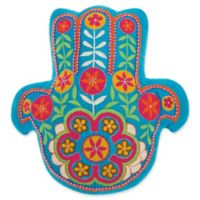 Mina Victory by Nourison Hamsa Throw Pillow in Turquoise