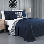 Avondale Manor Tanvi Reversible King Quilt Set in Navy