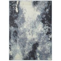 Oriental Weavers Evolution Abstract Striations 3-Foot 3-Inch x 5-Foot 2-Inch Area Rug in Navy