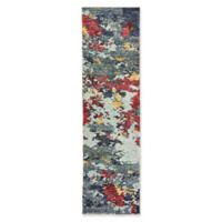 Oriental Weavers Evolution Impressions 2-Foot 6-Inch x 12-Foot Runner in Blue/Red