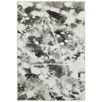 Oriental Weavers Evolution Impressions 3-Foot 3-Inch x 5-Foot 2-Inch Area Rug in Charcoal